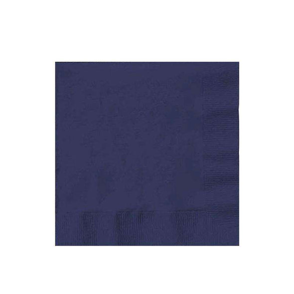 Navy Blue Disposable Wedding Paper Cocktail Napkins