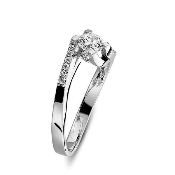 Budapest engagement ring in White gold