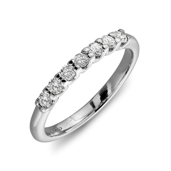 Athens diamond ring with 7 diamonds