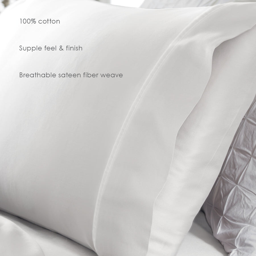 Priceless Sateen Cotton Pillowcase Set