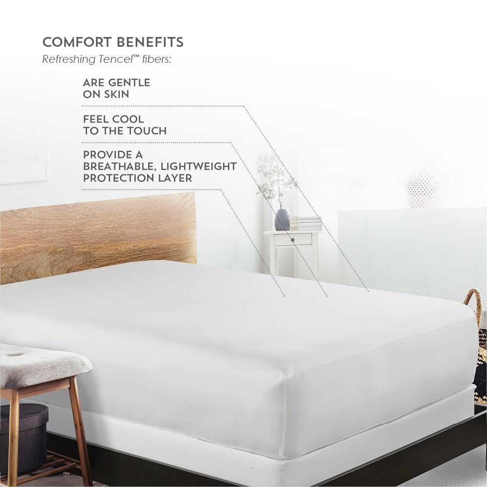 Priceless Tencel 5-Sided Mattress Protector