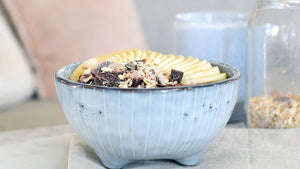 OVERNIGHT OATS WITH CHOCOLATE AND BANANA