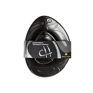 corrine hunt cheeese board balck chilkat native indigenous recycled material great gift idea