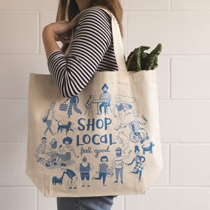 feel good shop local tote canvas bag the good bag