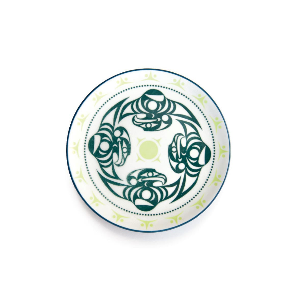 Porcelain Art Plate - Thunderbird by Dylan Thomas