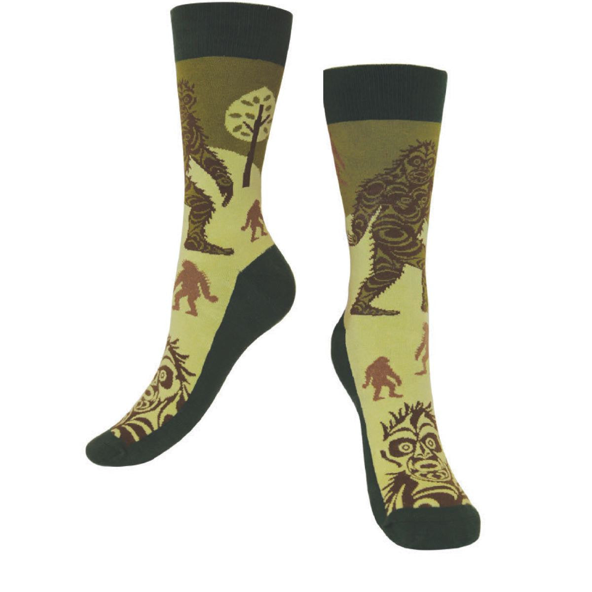 art socks sasquatch francis horne sr perfect gift unique gift colorful socks big foot
