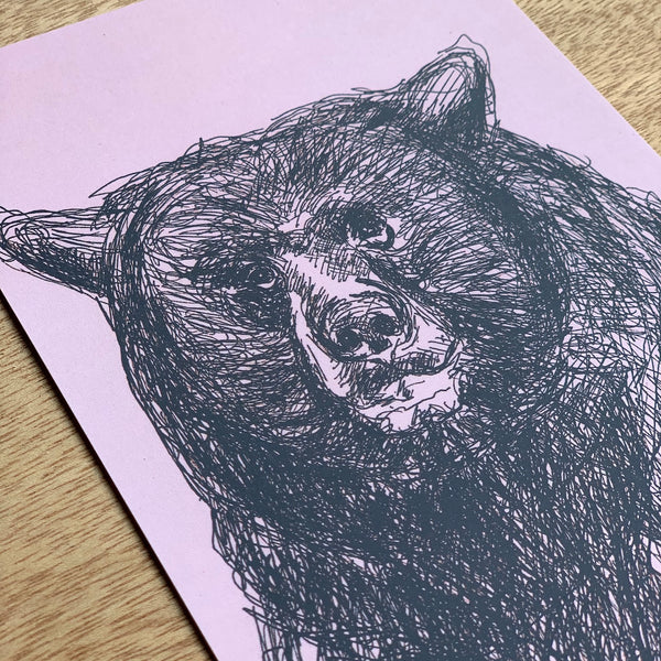 BlankCard_MachiMela_BlackBear_recycled paper_unique gift_perfect gift