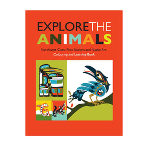coloring book explore animals northwest coast first nations native art