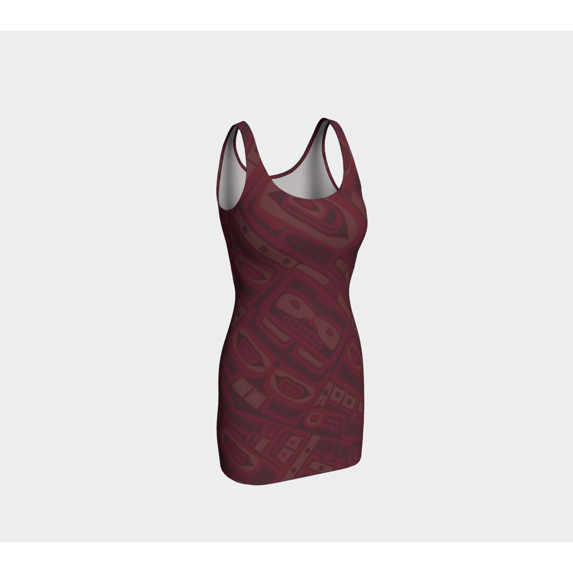 Dress - Burgundy Bodycon by Alano Edzerza