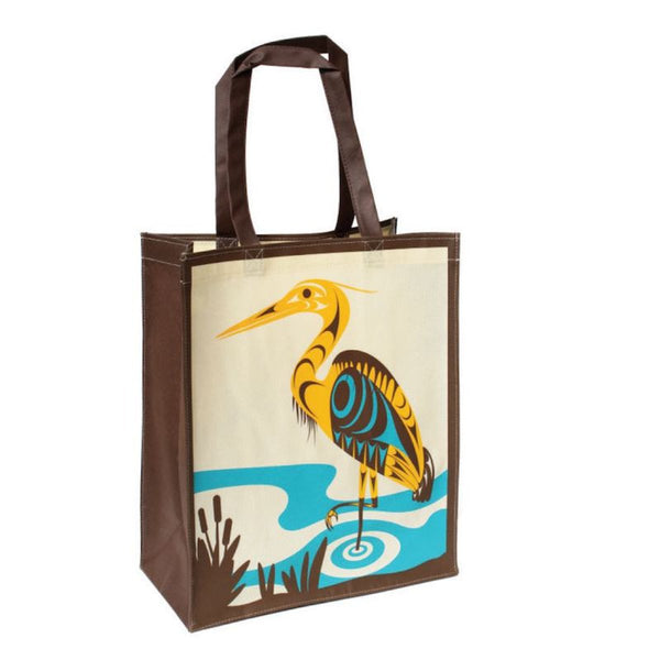 Eco Bag - Heron Francis Horne Sr. postconsumer product reusable material Coast Salish design perfect gift unique gift