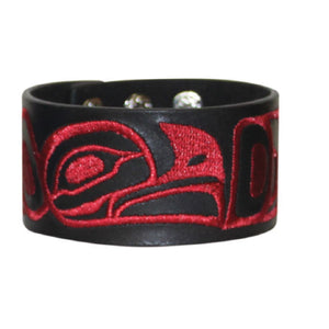 embroided leather cuff eagle trevor angus