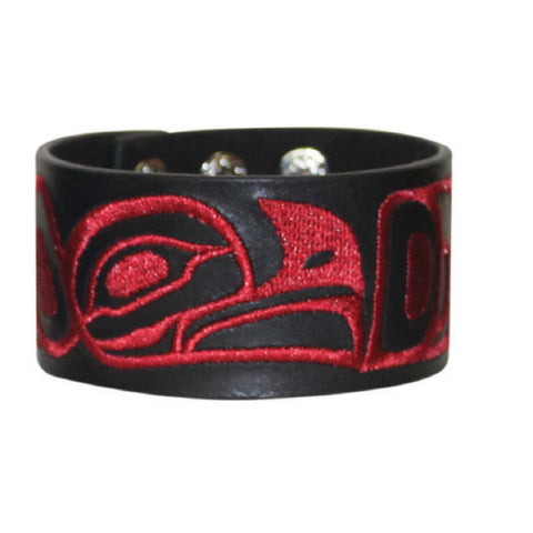 Leather Cuff - Eagle by Trevor Angus