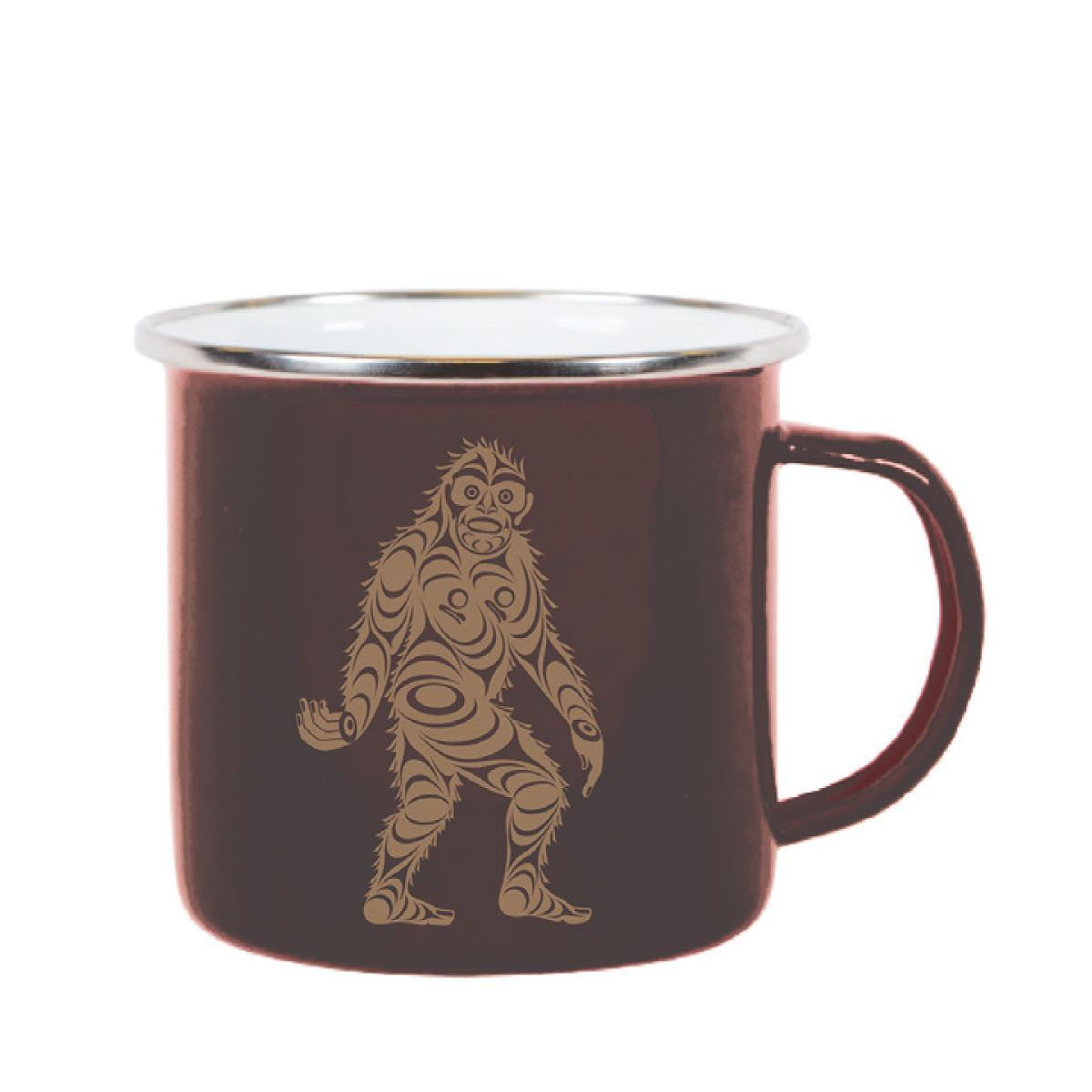 enamel mug tin mug sasquatch big foot perfect gift unique gift