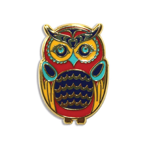 enamel pin owl simone diamond coast salish perfect gift unique gift