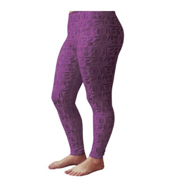 Leggings - Pacific Formlines by Paul Windsor (Purple)