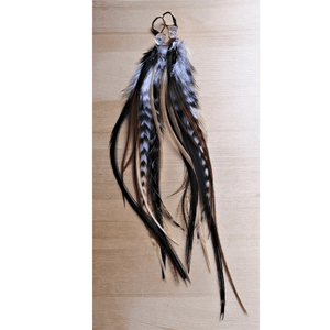 Feather Earrings with Herkimer Diamonds