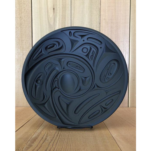 Round Panel - Eagle & Orca by Corrine Hunt - recycled material, home decor, beautiful gift, unique wall hanging