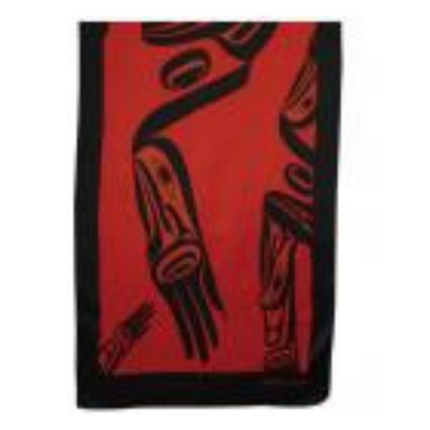 Scarf - Eagle in Flight by Dorothy Grant (Red)