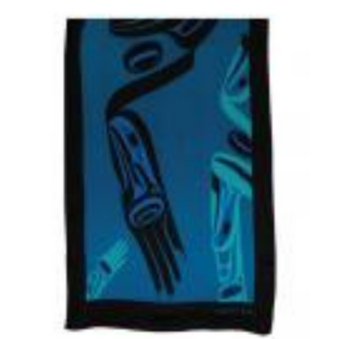 Scarf - Eagle in Flight by Dorothy Grant (Blue)