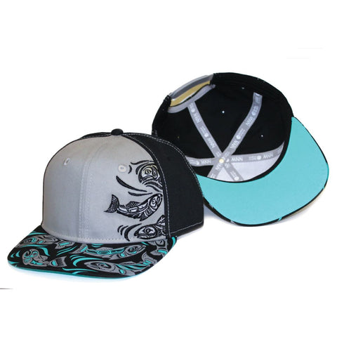snap Back Hat Sacred Salmon Paul Windsor hat with a fish