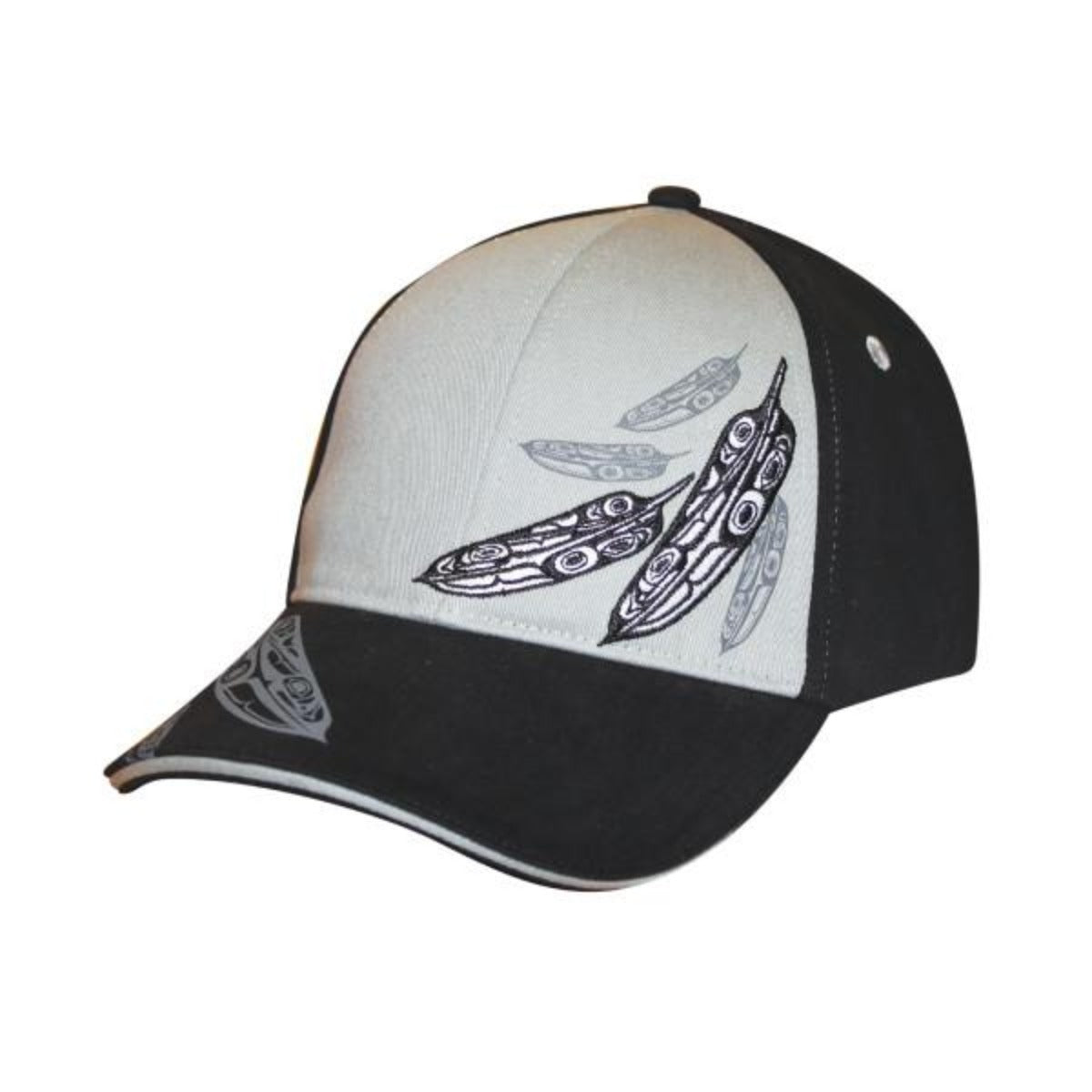 Stretch Fit Cap Feathers Trevor Angus Gitxan design