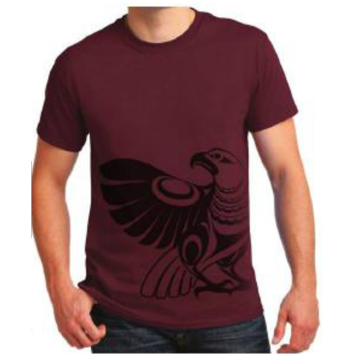 t-shirt eagle simone diamond cotton t-shirt maroon color perfect gift unique gift