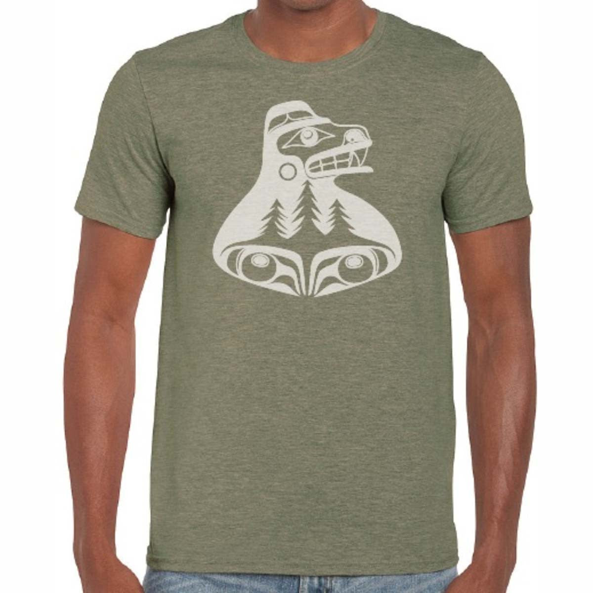 t-shirt alan weir haida bear tree hugger cotton t-shirt cool t-shirt perfect gift unique gift