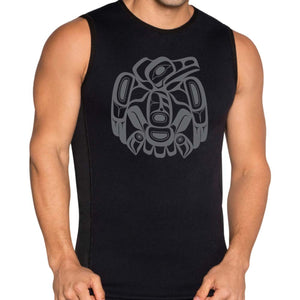 tank top mens black raven by corey moraes perfect gift best gift idea for him bc themed t-shirt native art t-shirt canada