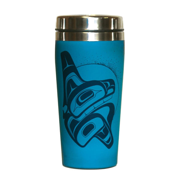 travel mug 16 oz whale rising chazz mack bella coola