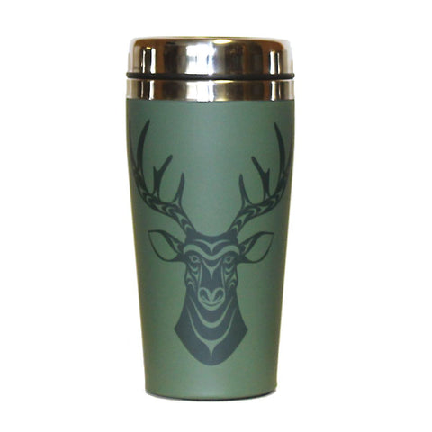 travel mug deer simone diamond coast salish design