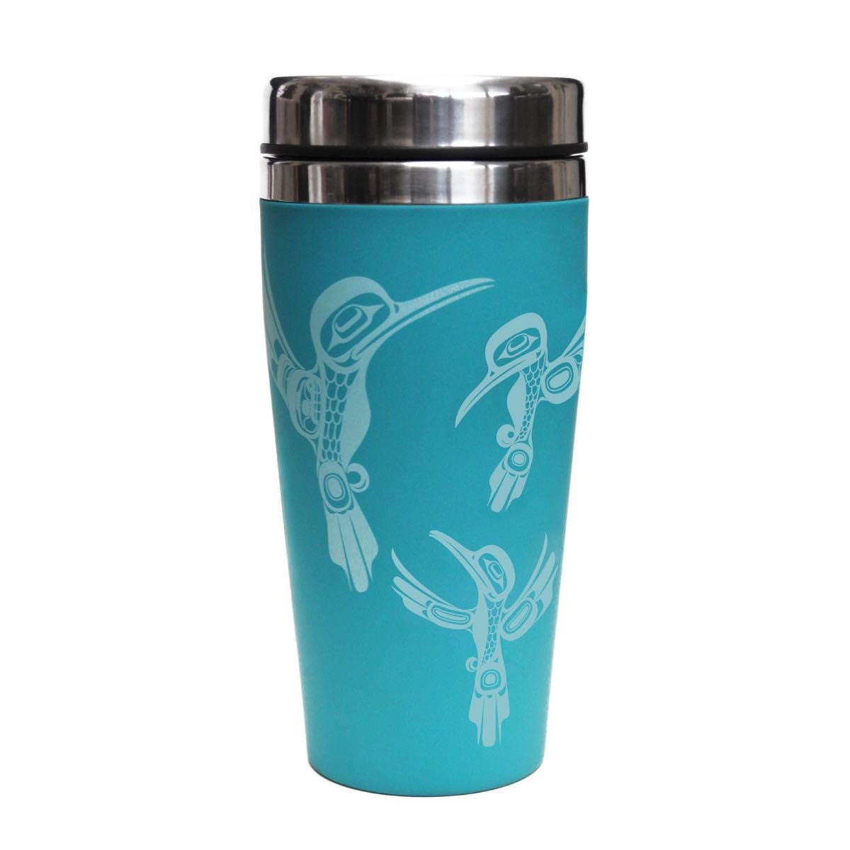 travel mug 16 oz hummingbirds ernest swanson haida design