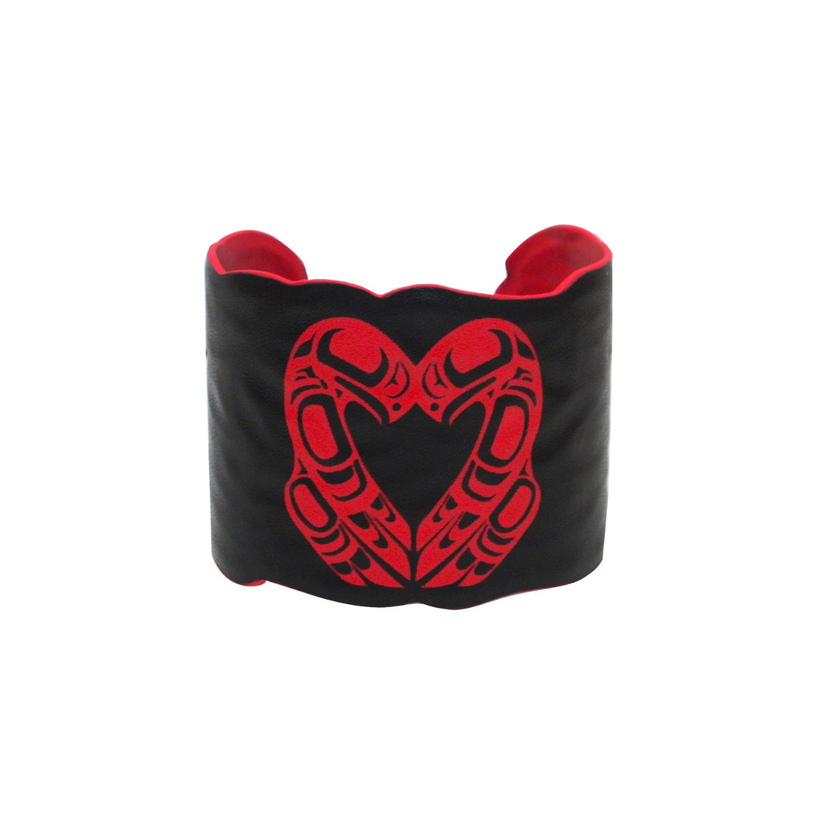 Vegan Leather Cuff - Eagle Heart by Roy Henry Vickers