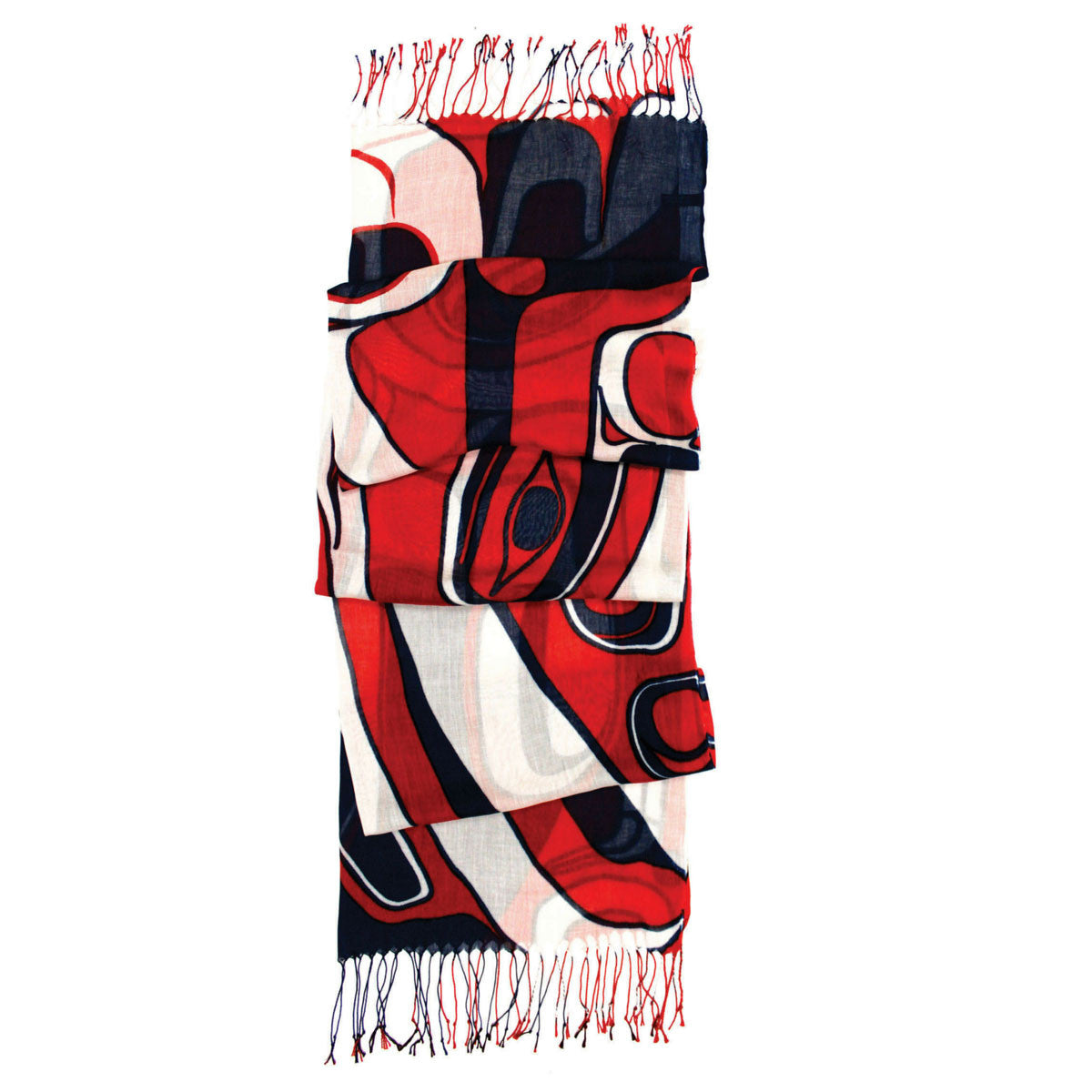 scarf jay simeon haida artist raven steals the sun perfect gift unique gift