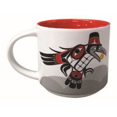 White Mug - Raven Releasing Light by Allan Weir