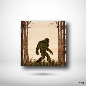 Wood Panel - Square - Plank - Sasquatch in the Woods