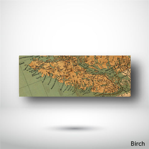 Wood Panel - Panorama - Birch - Map of Vancouver Island