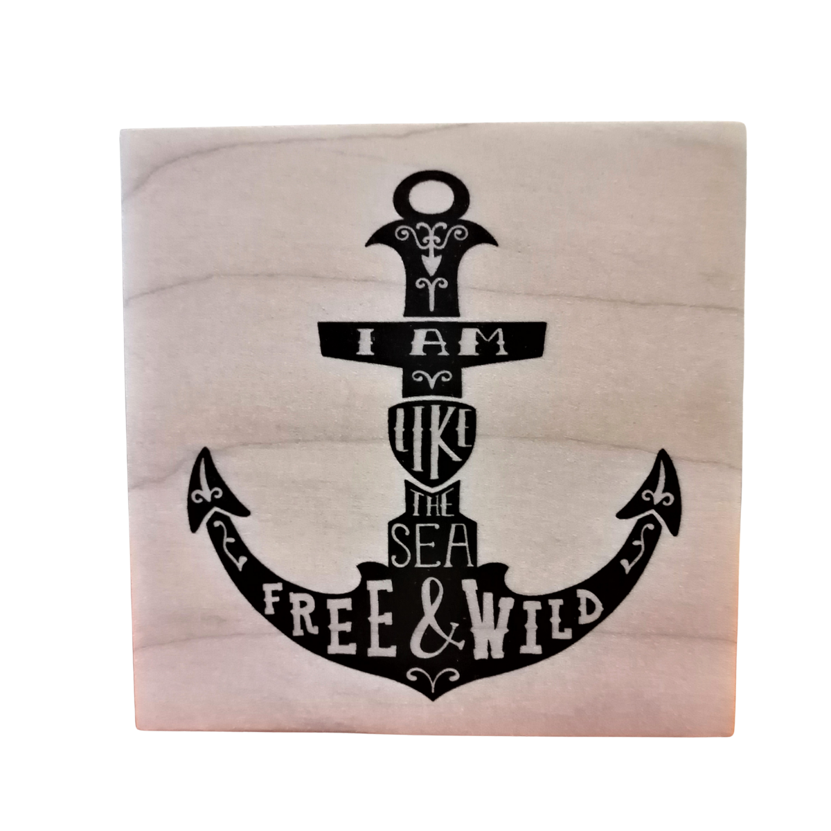 Small Image on Wood Block - Anchor Quote