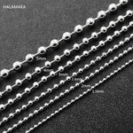1.5/2/2.4/3/4/5mm Stainless Steel Keychain, Bead Ball Dogtag Chain, Floating Locket Necklace Fashion Jewelry Parts