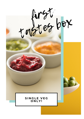 The First Tastes Box - Single Veg Only! (£0.97/meal)