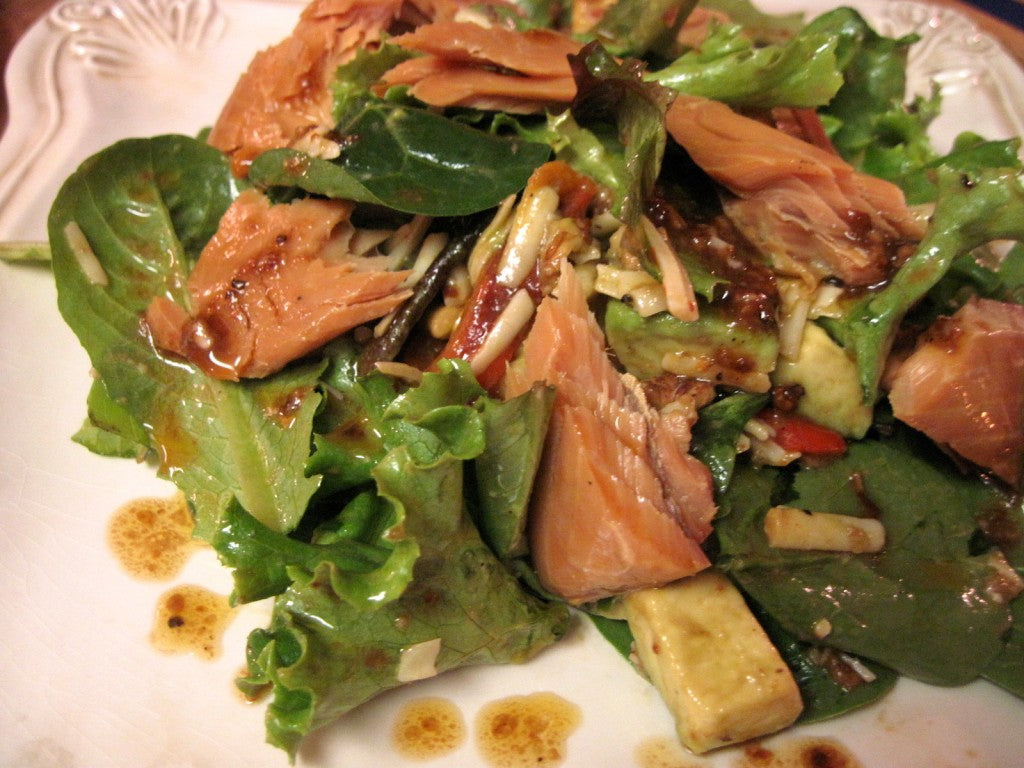 Painted Desert Salad with Maple Glazed Smoked Salmon