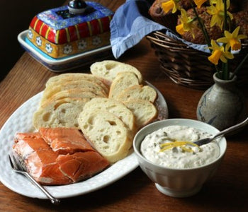 SeaChange Smoked Salmon with Lemon Caper Cream Cheese