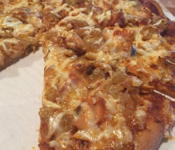 Anne's Pizza with Maple Glazed Smoked Salmon and Caramelized Onions