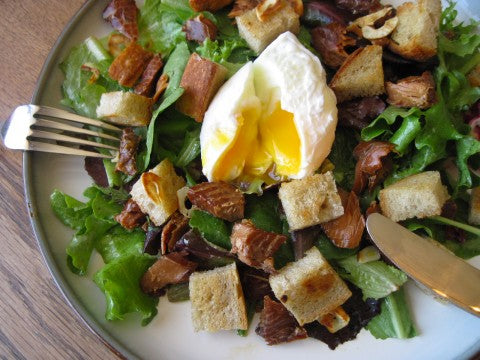 Salad Lyonnaise with SeaChange Candied Salmon