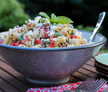 Smoked Salmon Pasta Salad with Salt Spring Island Cheese Company Feta