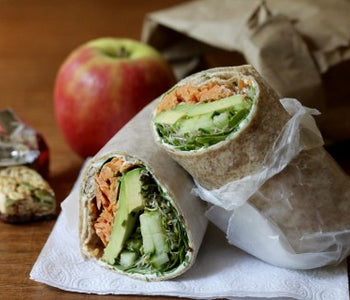 Smoked Sockeye Salmon, Veggie, and Avocado Wrap