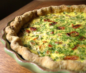 Smoked Salmon and Roast Tomato Quiche