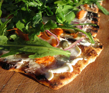 Grilled Pizza with Smoked Salmon