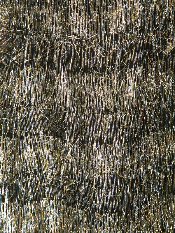 Metallic Tinsel Fringe Dress