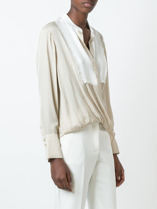 Frayed Drape Blouse
