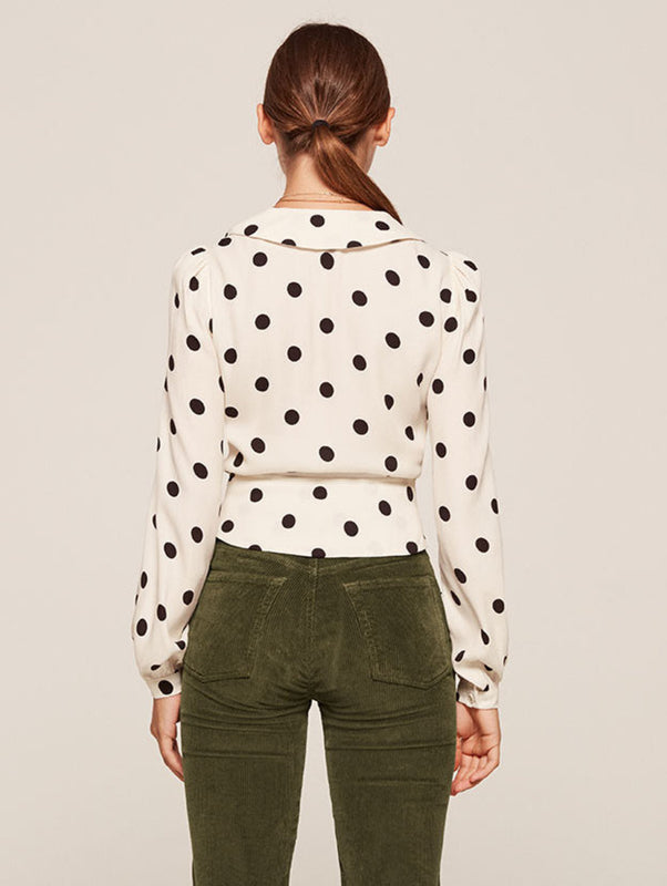 Dotted Artist Blouse